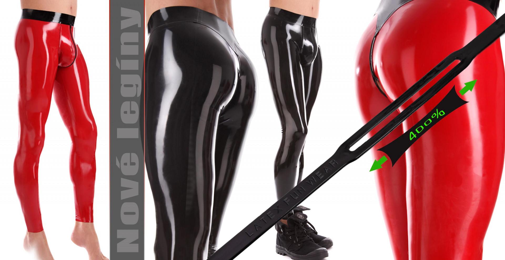 Latexové Legíny s 3D genitální oblastí a análním otvorem